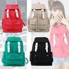 Fashion Girl Simple Canvas Shoulder Backpack Rucksack School Travel Bag Satchel