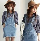 New Casual College Style Denim Jumper Dress Personalized Multi-pocket Fringed