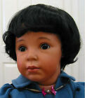 Robbie Black DOLL WIG  size 13-14 wavy short hair for all types of dolls NEW