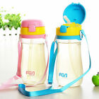 Outdoor sport BPA Free Children Water bottle with silicon straw 600ml Tritan
