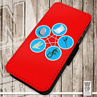 RPSLS - Printed Faux Leather Cover Case Flip Style. Big Bang Theory Inspired