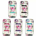 Deluxe White Flower Heavy Hybrid Rubber Front Back Case Cover for Apple iPhone5C