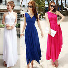 Womens Lady Sleeveless Multi-Way Halter Backless One Shoulder Casual Dress Skirt