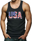 USA - American Pride Red White & Blue Merica Men's Tank Top T-shirt