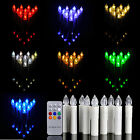 10PCS LED Flameless Flickering Christmas Tree Tear Candle Lights Remote Control