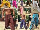 MENS HAREM PANTS - TIE DYE , BALLOON, BAGGY, HIPPY  - MIXED COLOURS/ DESIGNS