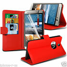 6 Colour Leather Stand Wallet Flip Phone Case Cover For HTC One M9+