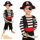 Boys Pirate Costume Toddler Deckhand Captain Hook Fancy Dress Book Week Age 3-6