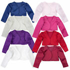 Baby Girls Bolero Long Sleeve Cardigan Wedding Formal Christening Party