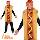 Adult Hot Diggity Dog Costume Funny Food Fancy Dress Sausage Outfit New