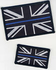 Police The Thin Blue Line Woven Badge Patch Union Jack Flag Velcro or Sew On
