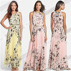 New Lady Summer Style Printed Chiffon Long Maxi Evening Party  Beach Dress DY