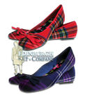 TWO GENUINE SCOTTISH TARTANS - FLAT BALLERINA / BALLET PUMP SHOES - SIZE UK 3-8!