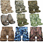 1976-2017 Jeep Wrangler Camouflage Seat Covers Canvas Front & Rear Choose color