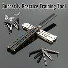 Folding metal steel Butterfly KnifeTraining Balisong Dull Blade Practice Trainer