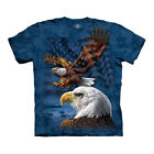 The Mountain USA American Eagle Flag Collage Adult Unisex T-Shirt image