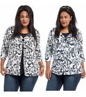 NEW Trending FLYAWAY Scroll Print Overlay Top PLUS SIZE 1X 2X 3X Free Ship