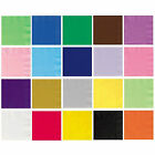 Packs of 100 Solid Colour Luncheon Napkins - 25 x 25cm - Party Napkin Tableware