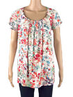 New Tag Marina K Cream Abstract Print Tunic Top Plus Size 18 20 22/24 FREE POST