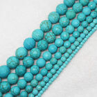 """Good Qulity ! 4-14mm Faceted Blue Turquoise Round Loose Beads 15"""""""