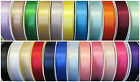 35mm BERISFORDS DOUBLE FACED SATIN RIBBON  1, 2, 3, 4,  5  metre LENGTHS