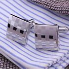 MEN&#039;S SILVER CUFFLINKS GOLD STAINLESS STEEL MENS WEDDING CUFF LINKS   <br/> ✔️ High Quality Cuff-links ✔️ Perfect Gift for Him ✔️