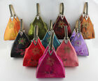 Brand New Chinese Handmade Classical Style Triangle Silk Handbag Bag With Handle
