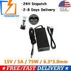 AC Adapter Charger Power Supply Cord for Toshiba Laptop 15V 5A  75W