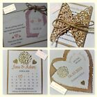 VINTAGE LOVE HEART wedding : SAVE THE DATES; 4 designs, 60 cols, personalised