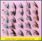 25 Trout / Sea Trout Fly Fishing Flies 84 Hook sizes 10, 12 & 14