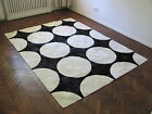 NEW COWHIDE PATCHWORK RUG LEATHER CARPET cu_451