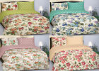 100% Cotton Sateen 210TC Vintage floral Reversible Design Duvet Cover Set Pillow