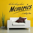 Memories Removable Wall Quote Home Vinyl Decal Interior Wall Quote DAQ10