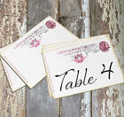 DOUBLE or SINGLE SIDED ITALY ITALIAN POSTCARD WEDDING TABLE CARDS or SIGNS #649