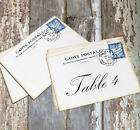 DOUBLE or SINGLE SIDED FRENCH POSTCARD WEDDING TABLE CARDS or SIGN #109