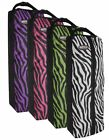 Showman Zebra Print Nylon Halter & Bridle Bag with Zipper Front FREE SHIP