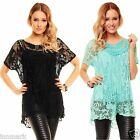 CLUBBING BOAT NECK PARTY SHORT SLEEVE  NET MESH LONG TOP BLACK MINT TUNIC