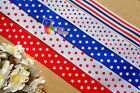 "1""pick/Mix July 4th Patriotic Stars Strips Grosgrain Ribbon hair Bow 50/100Yds"