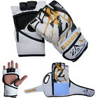 Rex Leather Grappling Cage Fight Gloves Boxing  MMA GlovesTraining  S to XXL