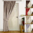 """Brisbane"" FAUX VELVET- Thermal Door Lined Winter Curtain , Reduces Heat Loss"