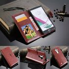 "Luxury Leather Wallet Flip Stand Case Pouch Cover Skin For 5.5"" LG G4 Smartphone"