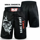 MMA Shorts Fighting UFC Grappling Cage Fight Muay Thai Kick Boxing Short Black