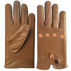 REAL SOFT LEATHER MEN'S FASHION DRIVING GLOVES TAN
