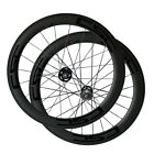 60mm Clincher U Shape carbon bike Track fixed gear wheelset 20.5,23,25mm width