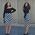 New Women Summer Long Sleeve Evening Cocktail Plus Size Party Sexy Bodycon Dress