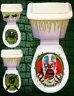 Halloween Toilet Seat Lid & Cistern Cover Scary Party Decoration Free Postage
