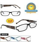 Rectangular Readers Fun Designs on Arms Cute Quality Spring Hinges Comfort r9049