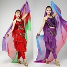 Gradient Veil Shawl Face Scarf Women Dance Belly Bollywood Costume Silk like New