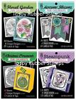 "Hot Off the Press COLORIST Coloring Book 5x6"" Garden Blossoms Steampunk Ornament"