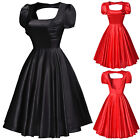 Women Vintage Retro 50's Swing Party Pinup Gothic Short Prom Dress